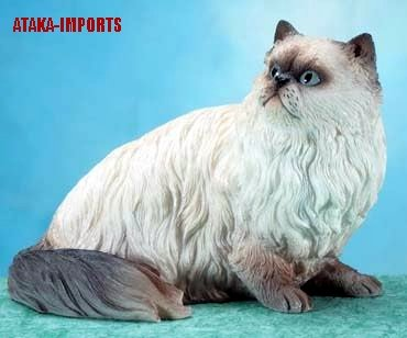HIMALAYAN PERSIAN CAT FIGURINE (5658s)