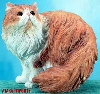 PERSIAN CAT FIGURINE (5655)