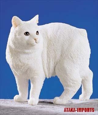 CYMRIC CAT FIGURINE-LONGHAIRED MANX-MANX (5246)