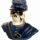 U.S. NORTH -CIVIL WAR SOLDIER SKULL-SKELETONS FIGURINE-HALLOWEEN (6390)