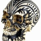 MONEY BANK-TATTOO MOARI RAM SKULL STATUE-BIZARRE (6413)