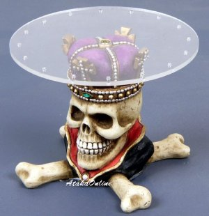 SKULL RING HANGER-KING-SUCTION PAD-BIZARRE (6496)