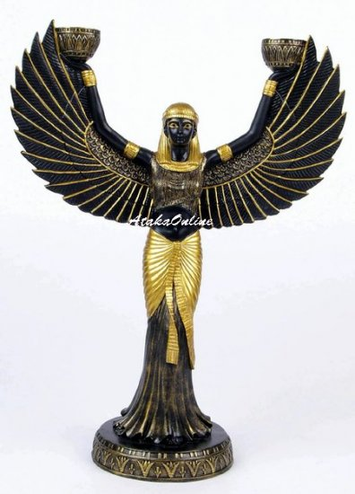 CLEOPATRA CANDLE HOLDER-OPEN WINGS (6477)