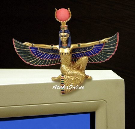 EGYPT-EGYPTIAN ISIS PC MONITOR-LCD-TOPPER-FIGURINE (6474)