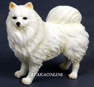 AMERICAN ESKIMO DOG FIGURINE-ESKIE-SPITZ (6564)