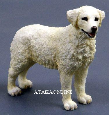 KUVASZ DOG FIGURINE-HUNGARIAN KUVASZ-HUNGARIAN SHEEPDOG (6557)