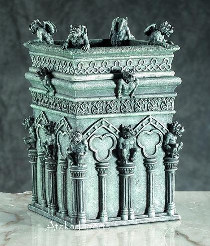 GOTHIC-GARGOYLE TREASURE-TRINKET-JEWELRY BOX-COLUMN-NEW (5696s)
