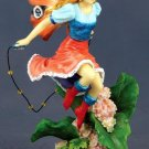 HANDPAINTED PLAYING FAIRY STATUE-FIGURINE (6534)