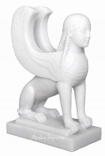 GREEK-ROMAN SPHINX STATUE-ART MUSEUM COLLECTION (6304)