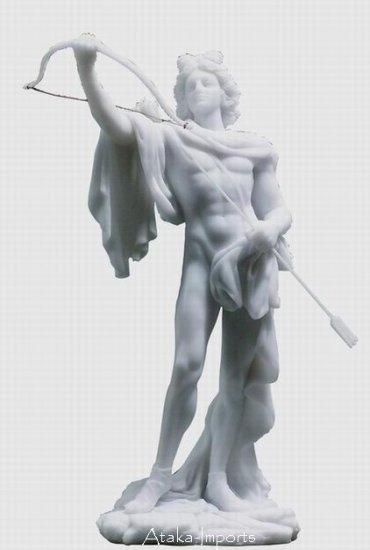 GOD APOLLO STATUE-SCULPTURE-GREEK-ROMAN-NEAT-GORGEOUS (6141)