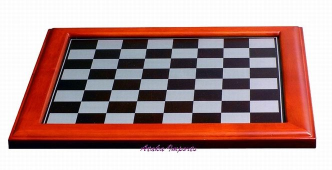 """LARGE WOOD CHESS BOARD-FOR 4""""CHESS SETS (5650)"""