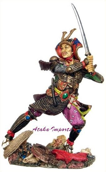 JAPANESE SAMURAI GENERAL-WARRIOR STATUE-FIGHTING (6250)