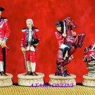 AMERICAN REVOLUTION CHESS SET-HANDPAINTED-ANCIENT (5281s)