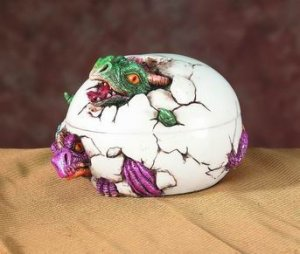 DRAGON HATCHING TRINKET BOX-FIGURINE-STATUE (5537s)