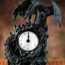 BATTLING DRAGONS-CLOCK-STONE LIKE (5979)