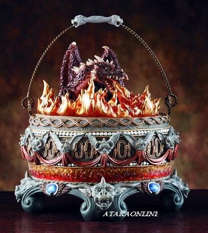 CAULDRON DRAGON BOX-FLAMING (4043)