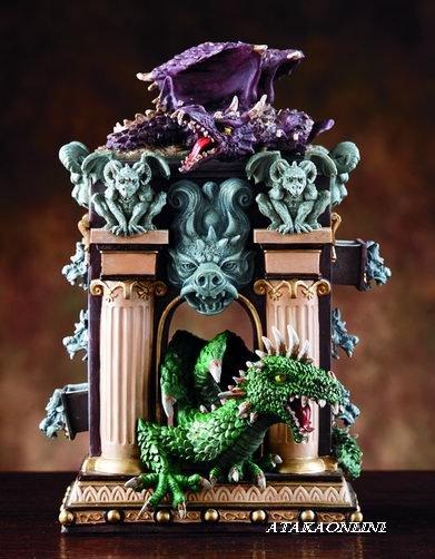 DRAGON AND GARGOYLE BOX W SIX DRAWERS-STORAGE (4042)