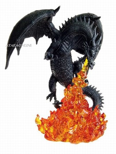 FIERY ATTACKING DRAGON FIGURINE-STATUE (6275)