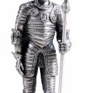 ITALIAN WARRIOR SUIT OF ARMOR-PEWTER-FIGURINE (6163)6170s