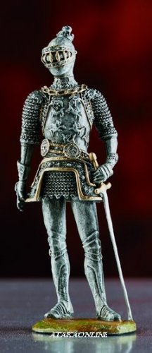 WARRIOR SUIT OF ARMOR-PEWTER-FIGURINE (6030)
