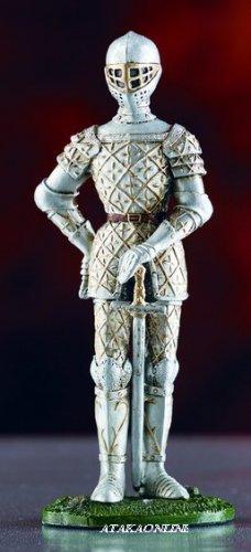 WARRIOR SUIT OF ARMOR-PEWTER-FIGURINE (6027)