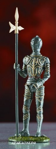 WARRIOR SUIT OF ARMOR-PEWTER-FIGURINE (6029)