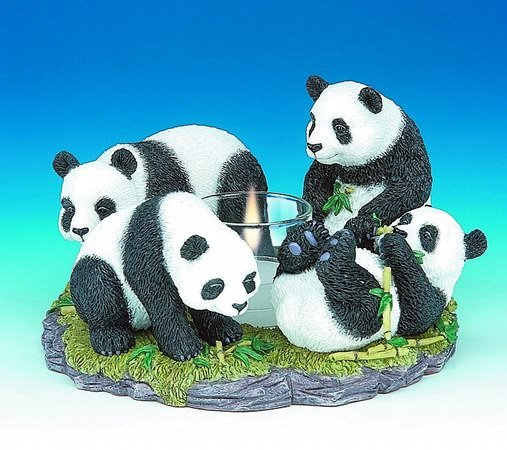 PANDA CANDLEHOLDER-FIGURINES-DISPLAY-FUN (3041)