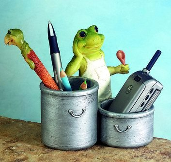 FROG UTILITY HOLDER-FIGURINES-DISPLAY-FUN (5340)