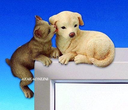 DOG & CAT-FIGURINES-PC TOPPER-FUN (3059)