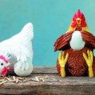 SET OF 4-FARM CHICKENS-FIGURINES-DISPLAY-FUN (5677)
