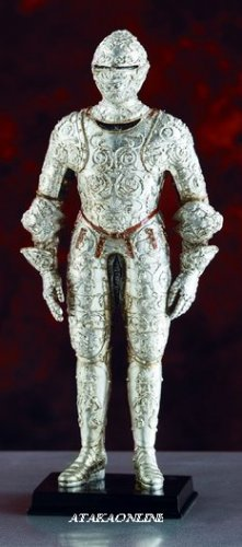 FRENCH-MIDDLE AGE- WARRIOR-FIGURINE-STATUE (5851)