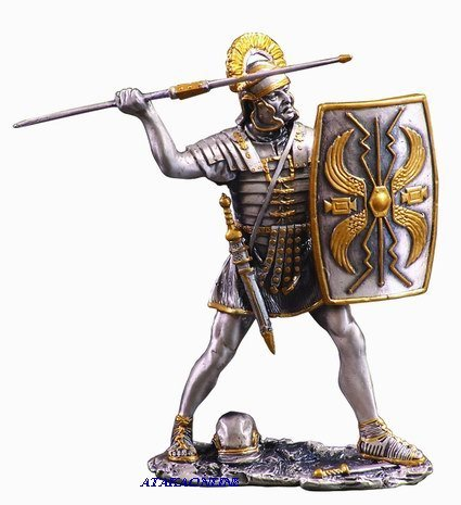 ROMAN WARRIOR W PIKE-PEWTER-FIGURINE (6274)