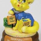 SHOPPING CAT-CUTIE-FIGURINE (6555)