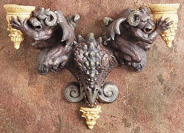 GARGOYLE DRAGON WALL CANDLEHOLDER- LIMITED EDITION (5930)