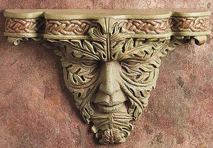 GREEN MAN-CELTIC WALL BRACKET-SHELF-LIMITED EDITION  (5932)