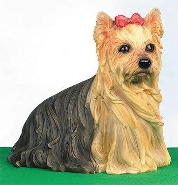 LARGE YORKIE-YORKSHIRE TERRIER-DOG FIGURINE-STATUE (4942s)