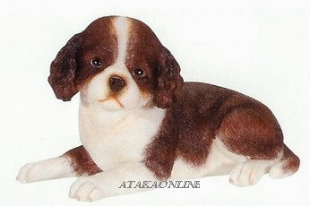 ENGLISH SPRINGER SPANIEL PUPPY-DOG FIGURINE CUTE (6625s)