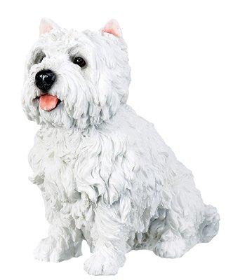 """7"""" WEST HIGHLAND TERRIER-WESTIE-DOG FIGURINE-STATUE (6309s)"""