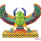 WINGED SCARAB-COLORFUL-FIGURINE-STATUE (6205s)