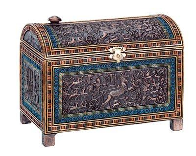 EGYPTIAN JEWELRY BOX-FIGURINE-STATUE (6196s)