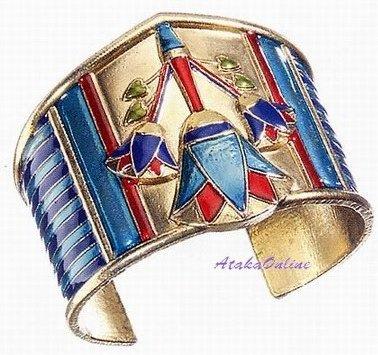 LOTUS BRACELET-EGYPTIAN FINE JEWELRY-GORGEOUS-NEAT (2323s)