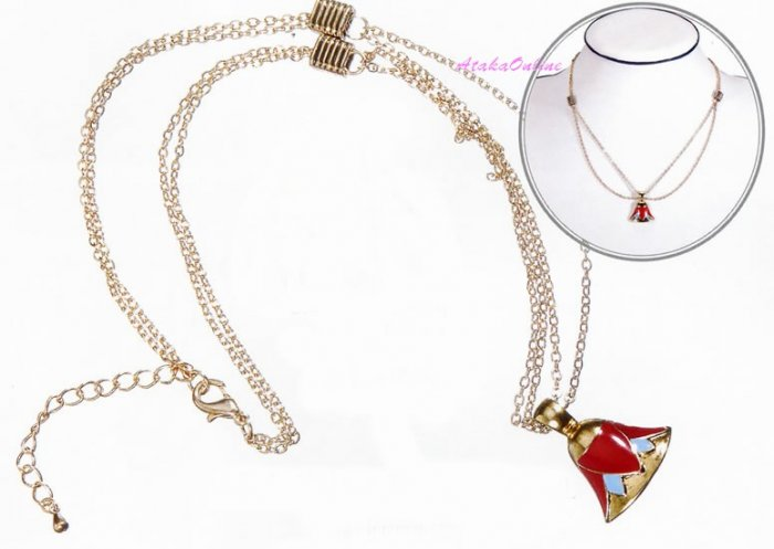 """EGYPTIAN LOTUS EARRINGS and 18"""" LOTUS NECKLACE-Egyptian Fine Jewelry Set (2315-2322)"""