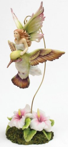 HUMMING BIRD HANGING FAIRY-FIGURINE-STATUE- by Jody Bergsma (6819)