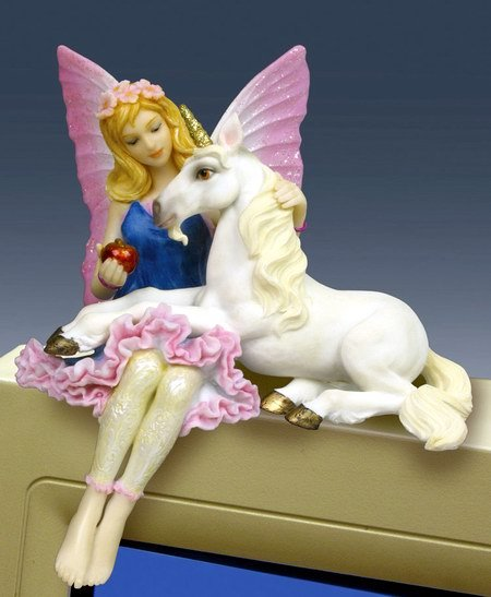 FAIRY W UNICORN PC TOPPER-FIGURINE-STATUE (6693)