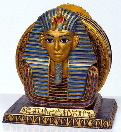 KING TUT COASTER SET EGYPTIAN FIGURINE (6948)