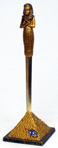 KING TUT LETTER OPENER W BASE-EGYPTIAN FIGURINE (6950)