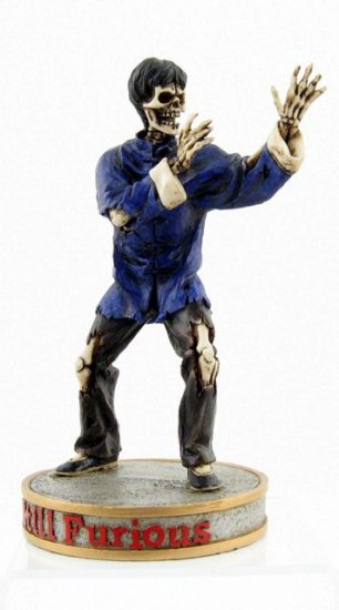 BRUCE LEE SKELETON FIGHTING STATUE-FIGURINE (6885)