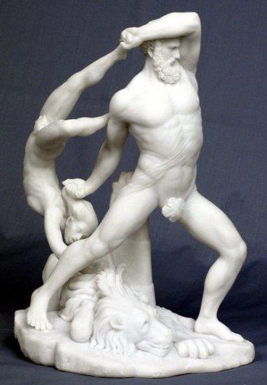 HERCULES-WRESLERS-GREEK MYTHOLOGY-ROMAN FIGURINE (6902)