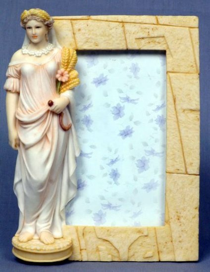 SUMMER LADY PICTURE FRAME-GREEK MYTHOLOGY-ROMAN FIGURINE (6839)