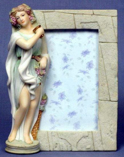 AUTUMN LADY PICTURE FRAME-GREEK MYTHOLOGY-ROMAN FIGURINE (6840)